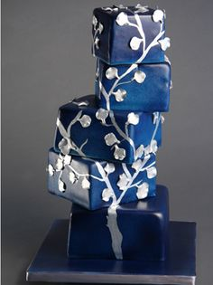 This birthday cake was made for an artist, and inspired by her work, blueprint - by Sugar Couture