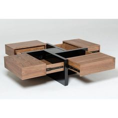 Makai Couchtisch mit Aufbewahrung - stuff -Lipscomb Makai Couchtisch mit Aufbewahrung - stuff - woodworking for beginners Stylish Coffee Table, Diy Coffee Table, Coffee Table With Storage, Coffee Table Design, Ideas For Coffee Tables, Coffee Table Plans, Cool Tables, Coffee Ideas, Black Square Coffee Table