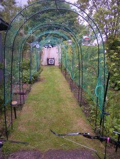 Garden (Backyard) Archery range ... very nice.