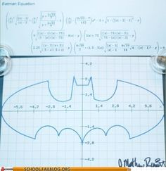 """Its simple, we graph the Batman"""