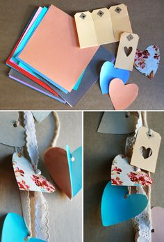 Valentines Day Heart Garland {Craft}