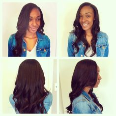 2 bundles side part install.  Luxe lengths straight hair.  Www.styleseat.com/luxelengths