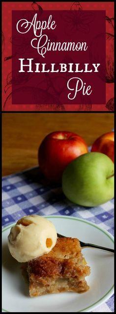 Apple Cinnamon Hillbilly Pie - Prairie Gal Cookin #apple #hillbilly #pie