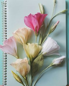 Lisianthus. A pretty project using fine crepe in delicate colors. Materials…