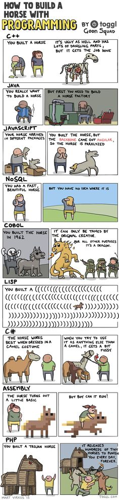 How to build a horse #programming #coding #software #developers #webdev #sysadmin #programmers #cs