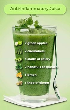 Terrific Pictures Anti-Inflammatory Juice uses 2 green apples, 2 cucumbers, 4 stalks of celery, 2 . Popular Plant Smoothie Recipes Once you think of rattles, you probably frequently consider fruit smoothies. Healthy Juice Recipes, Juicer Recipes, Healthy Detox, Healthy Juices, Healthy Smoothies, Healthy Drinks, Detox Juices, Green Juice Recipes, Best Juicing Recipes