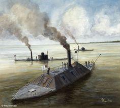 CSS Atlanta USS Weehawken and USS Nahant