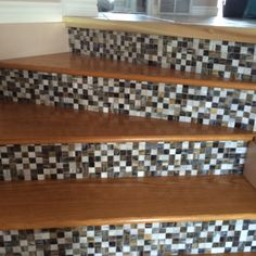 Stairs With Backsplash On Risers Stairs Bedroom Decor