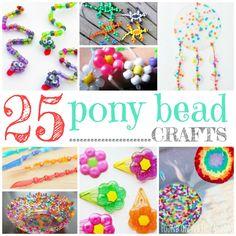 25 Brilliant Pony Bead Crafts For Kids - Perlen Diy Crafts For Kids, Crafts To Sell, Easy Crafts, Pony Bead Crafts, Beaded Crafts, Pony Bead Patterns, Beading Patterns, Toddler Crafts, Preschool Crafts