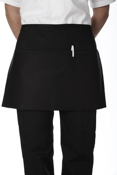 "3 Pocket Waist Apron : The perfect apron for servers. Plenty of pockets for all you tools. This durable poly/cotton apron is stain and wrinkle resistant.  65/35 poly-cotton 7.5oz. 25.5""W x 14.5""L One size"