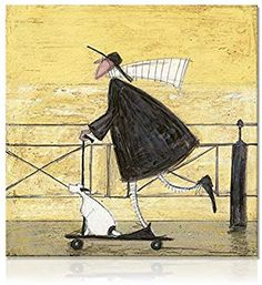 """Born to be Wild"" - Sam Toft. I have several of his prints. Makes me smile! Illustrations, Illustration Art, Arte Country, Arte Popular, Abstract Wall Art, Painting Abstract, Naive Art, Whimsical Art, Art Plastique"