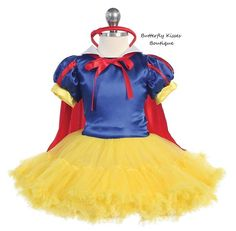 She+may+need+to+steer+clear+of+apples,+but+she's+still+lovely+as+can+be!    Your+little+princess+will+be+the+fairest+of+all+in+this+fancy+Snow+White+Tutu+Costume!+Costume+includes+a+tutu+dress+with+red+cape,+and+coordinating+bow+headband.+3-piece+set.    Infant+sizes:+12m,+18m,+24m  Toddler/Girls...
