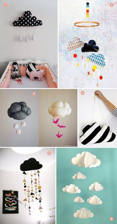 This cloud decoration can go in a nursery or around your room as a cute decoration for your ceiling!