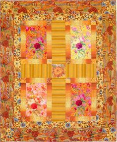 Quilt Name: Espania Pattern in Quilt Grandeur book by Kaffe Fassett Kit available