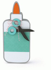 Silhouette Design Store - View Design #80012: glue bottle shaped card