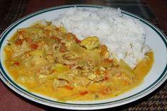 Kuře na karí s rýží ze sáčku