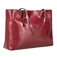 8faebff33a41b SZONE Womens Vintage Genuine Leather Tote Shoulder Bag Handbag Upgraded  Version Wine -- Learn more by visiting the image link.