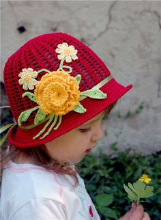 Fashion hats for kids: crochet patterns ~ Craft  handmade blog ~ Inspiration