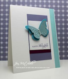 Cut out rectangle causing see thru window, making background  inside card AB.  Stampin' Up! SU, I Create