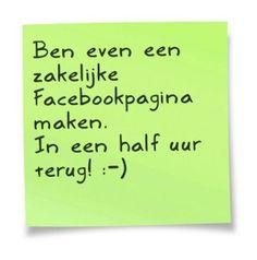 Maak in 30 minuten een aantrekkelijke zakelijke pagina Facebook pagina. http://hartenzielmarketing.nl/maak-30-minuten-aantrekkelijke-zakelijke-facebookpagina/