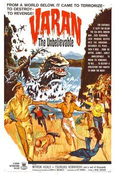 Varan the Unbelievable (1962, USA) | kaiju terror film poster