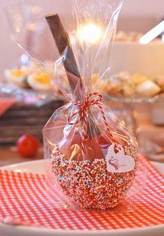 weihnachtliche kindergeburtstags äppel-party