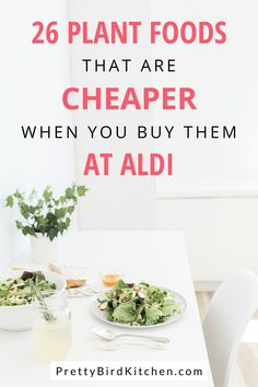 You can do most of your plant-based shopping at Aldi! Here is a list of plant foods you should always buy at Aldi to save money and stick to your grocery budget even on a whole food, plant-based diet. #plantbased #plantbaseddiet #savemoney #groceryshopping #shoppinglist Best Healthy Diet, Healthy Cooking, Cooking Tips, Plant Based Diet Plan, Plant Based Recipes, Whole Food Recipes, Diet Recipes, Healthy Recipes, Diets For Beginners