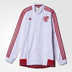 Jaqueta Hino Flamengo 2 - Branco adidas  361d7db4bb9cc