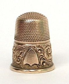 antique thimbles, silver thimbles, gold thimbles