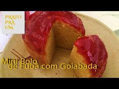 Prato Pra Um - Mini bolo de fubá com cobertura de goiabada