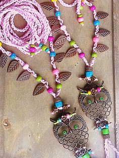 Boho barefoot sandals Crochet sandals Owl Pink Hippie by FiArt