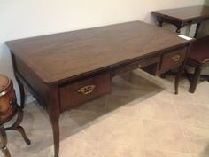 Big grandfather desk made by Century Furniture