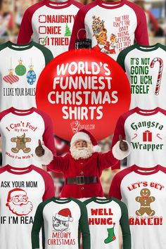 Voted The World's Funniest Christmas Shirts! Men's and Women's - Fast Shipping. Disney Christmas Shirts, Christmas Couple, Christmas Photos, Christmas Humor, Christmas Time, Christmas Gifts, Family Ugly Christmas Sweaters, Christmas Classics, Christmas History
