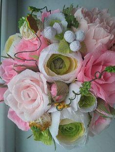 Crepe Paper Flower FlowersBouquets Handmade Paper
