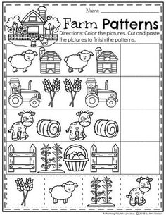 Farm Math and Literacy Worksheets for Preschool (With