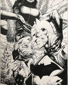 Jim Lee Batman, Jim Lee Art, Comic Art, Comic Books, Batman And Catwoman, Bat Family, Dark Knight, Character Art, Nerd