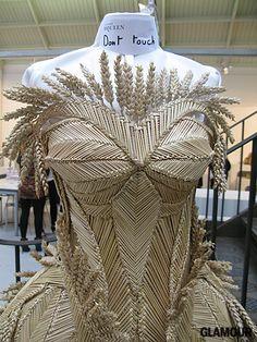 Alexander McQueen corn dolly dress