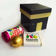 Little Eid Gift, Kabah favour box filled with lots of sweets. #Eid #Hajj #Jannahyouthclub