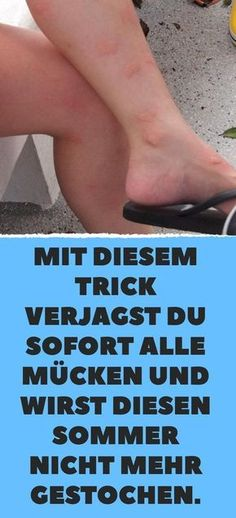 Mit diesem Trick verjagst du sofort alle Mücken und wirst diesen Sommer nicht m… With this trick you drive away all mosquitoes immediately and will not be stung this summer. Health Tips, Health And Wellness, Health Fitness, Diy Beauty, Beauty Hacks, Homemade Beauty, Vodka, Mosquito Spray, Mosquitos