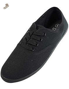 EasySteps Women's Canvas Lace Up Shoes with Padded Insole, Black, US Women's 9 B(M) US - Ecco sneakers for women (*Amazon Partner-Link)