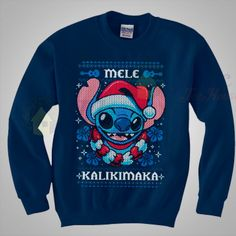 Disney Shirts, Disney Outfits, Cute Stitch, Lilo Stitch, Disney Stich, Stitch And Angel, Disney Christmas, Felt Christmas, Christmas Nails
