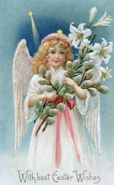 Paas Engel Paas postkaart,.............lb