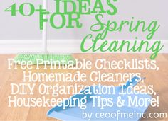 40+ Spring Cleaning, Housekeeping & DIY Household Organization Ideas! Read more at ceoofmeinc.com/... #springcleaning #organizing #diy #household