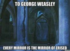 """When someone made this Mirror of Erised realization. 