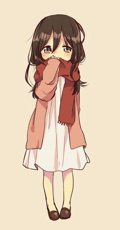 such a cute little. I wanna say chibi but. idk if i should<<is this supposed to be little mikasa? It looks like little Mikasa from attack on titan Anime Chibi, Anime Pokemon, Manga Anime, Fanarts Anime, Anime Characters, Anime Art, Read Anime, Manga Girl, Anime Girls