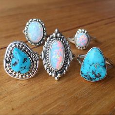 NAVAJO || Turquoise and Opal Rings available in our 'Navajo' Collection www.indieandharper.com
