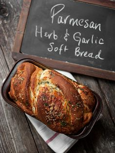 Soft Cheese Bread Loaf - Parmesan, Garlic and Herb