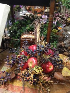 Faux apple basket at Ramahs
