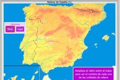 Relive y Sistemas montañosos de España