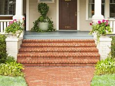 Copy the Charming Curb Appeal : Page 28 : Outdoors : Home & Garden Television (love the brick steps)